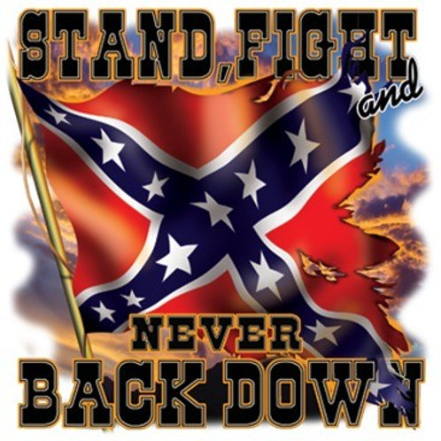 Never Back Down Flag-A12581C