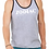 Thumbnail: EB250z  Men's Jersey Tank - Athletic Heather/Black w/ Zodiac Logo