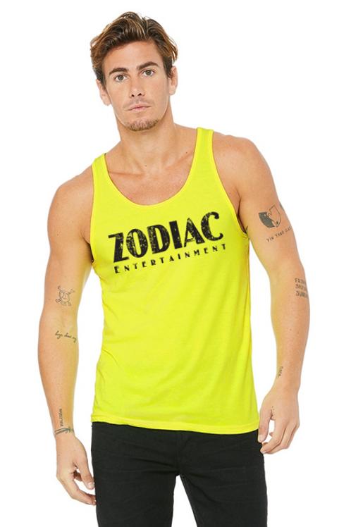 EB3480z Men's Jersey Tank - Neon Yellow w/ Zodiac Logo