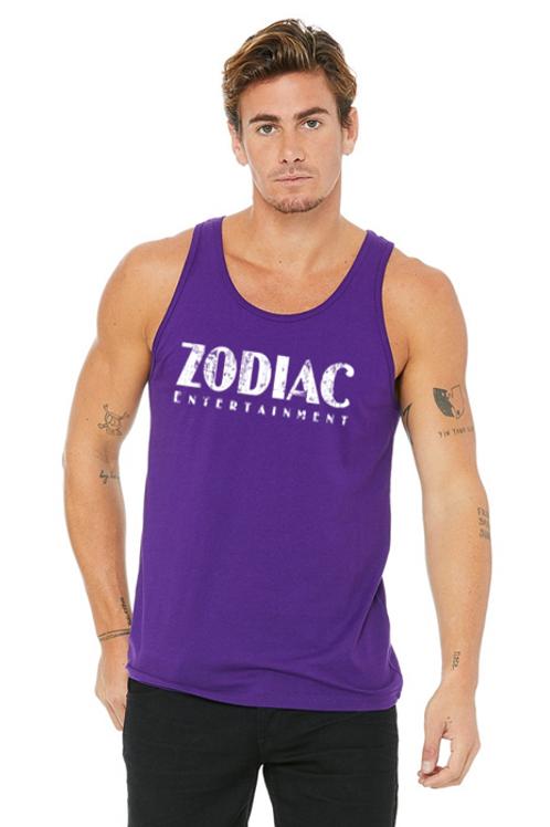 EB3480z Men's Jersey Tank - Purple w/ Zodiac Logo