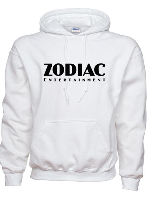 EG342z Hooded Sweatshirt - White w/ Zodiac Logo
