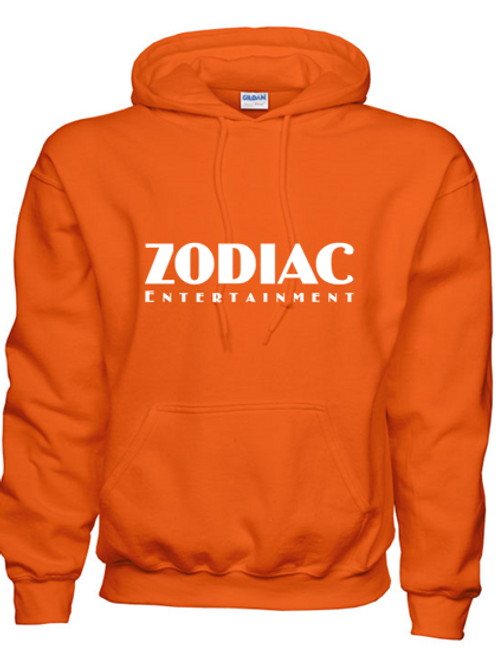 EG342z Hooded Sweatshirt - Orange w/ Zodiac Logo