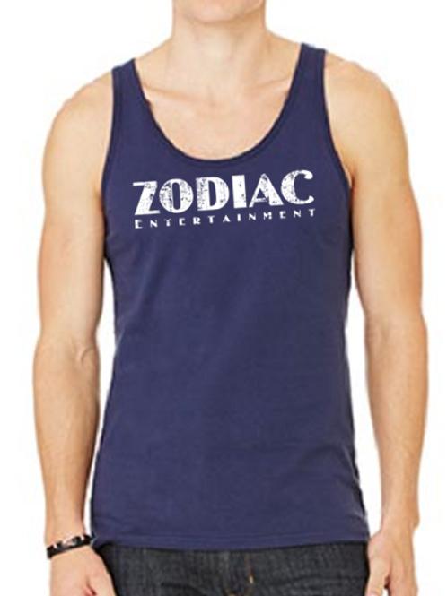 EB250z  Men's Jersey Tank - Navy w/ Zodiac Logo