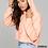 Thumbnail: EB7502z Cropped Fleece Hoodie w/ Zodiac Logo