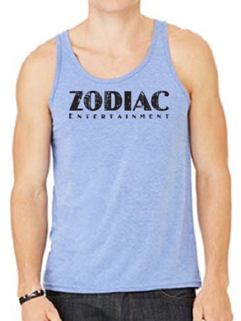 EB250z  Men's Jersey Tank - Blue Triblend w/ Zodiac Logo