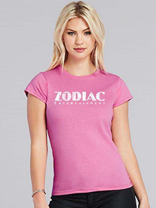 EG007z - Ladies Scoop Neck Tee w/ white logo