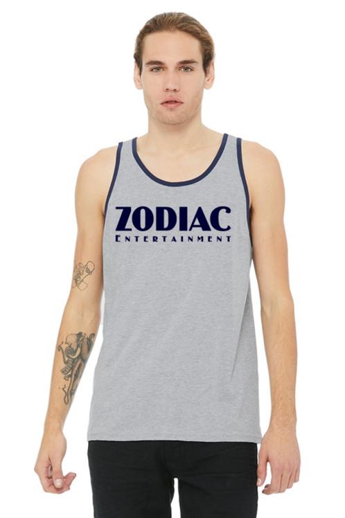 EB3480z Men's Jersey Tank - Athletic Heather/Nvy w/ Zodiac Logo