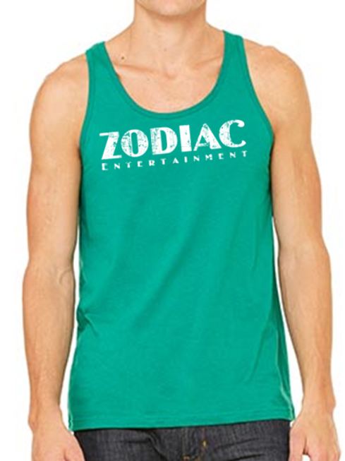 EB250z  Men's Jersey Tank - Kelly w/ Zodiac Logo