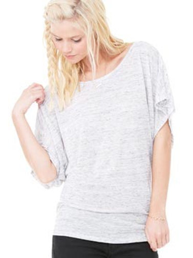 BL089 BELLA + CANVAS Women's Flowy Draped Sleeve D