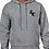 Thumbnail: EG342z Hooded Sweatshirt - Graphite Heather w/ Zodiac Logo
