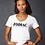 Thumbnail: EA031z -Ladies Lightweight V-Neck Tee w/ black logo