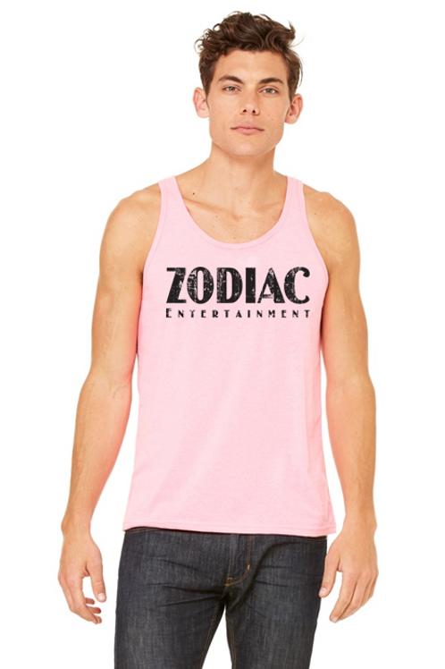 EB3480z Men's Jersey Tank - Neon Pink w/ Zodiac Logo