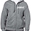 Thumbnail: EG343z Men's Full Zip Hooded Sweatshirt-Graphite Heather w/ Zodiac Logo