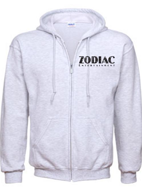 EG343z Men's Full Zip Hoodie-Ash w/ Zodiac Logo