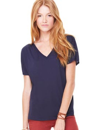 BL085 BELLA + CANVAS Women's Flowy Simple V-Neck T