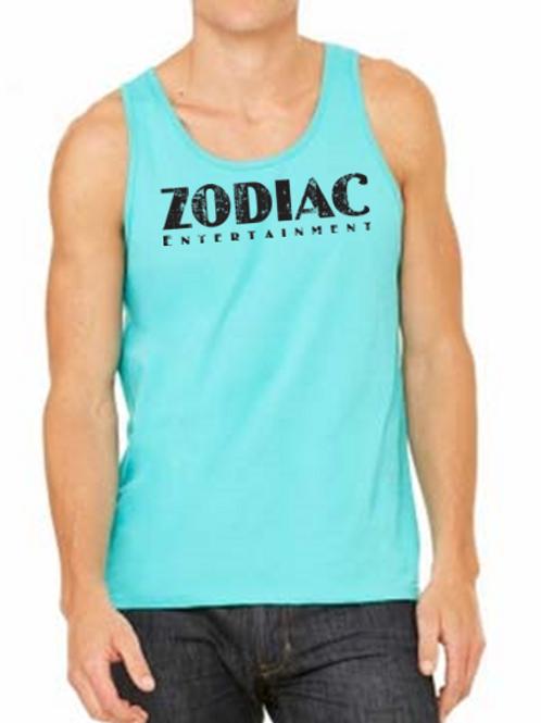 EB250z  Men's Jersey Tank - Teal w/ Zodiac Logo