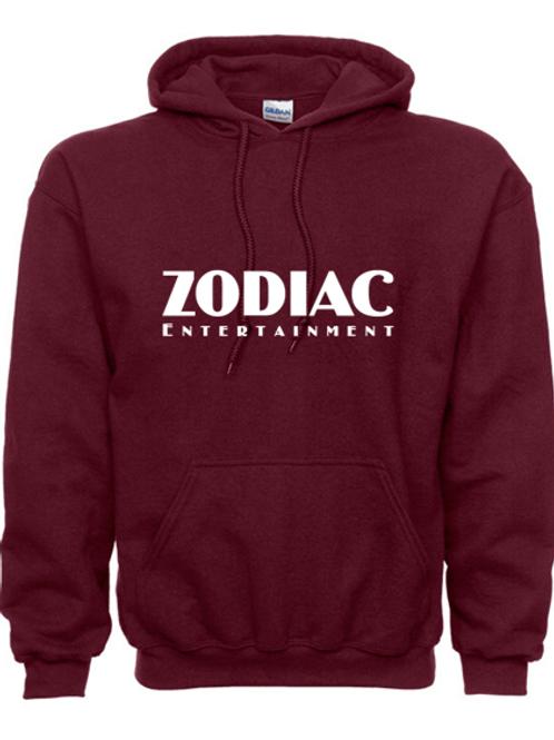EG342z Hooded Sweatshirt - Maroon w/ Zodiac Logo