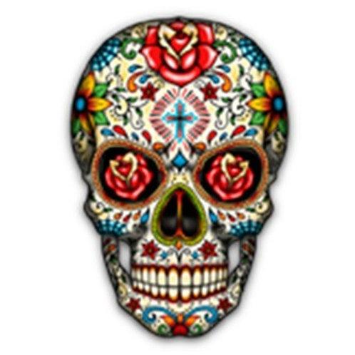 Sugar Skull-Roses - A10676F