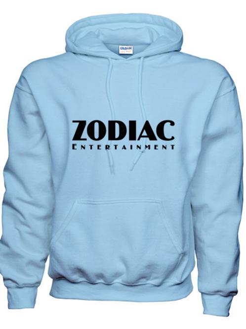 EG342z Hooded Sweatshirt - Lt Blue w/ Zodiac Logo