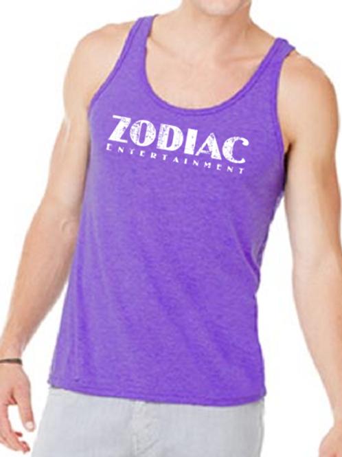EB250z  Men's Jersey Tank - Purple Triblend w/ Zodiac Logo