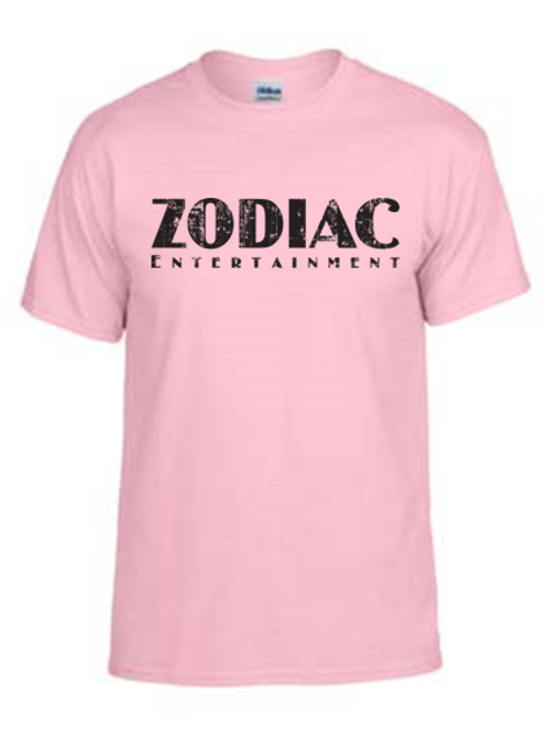 EG110z Lt Pink - Unisex Tees w/ zodiac logo