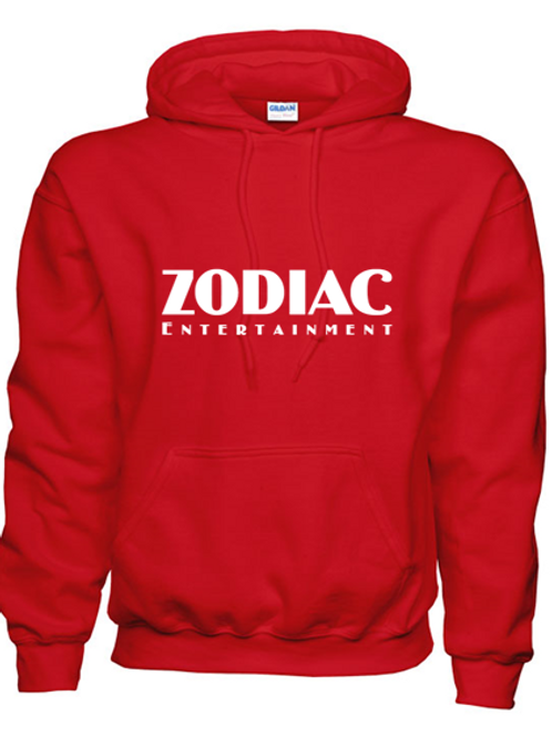 EG342z Hooded Sweatshirt - Red w/ Zodiac Logo