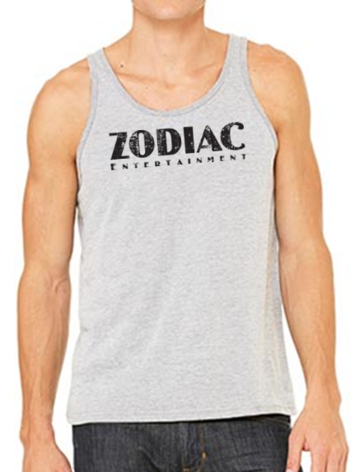 EB250z  Men's Jersey Tank - Athletic Heather w/ Zodiac Logo