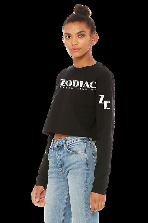 EB7503z Ladies Cropped Crew Fleece w/ Zodiac Logo