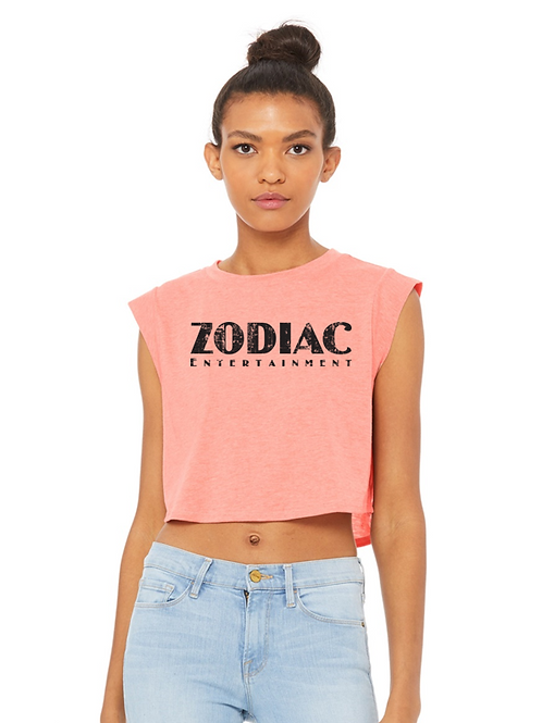 EB8483z - Ladies Cropped Tank w/ Zodiac logo