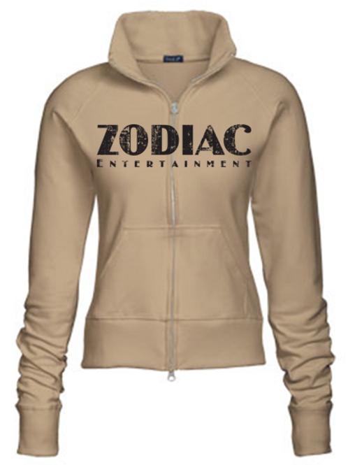 EZ088z Ladies Track Jacket-Khaki w/ Zodiac Logo