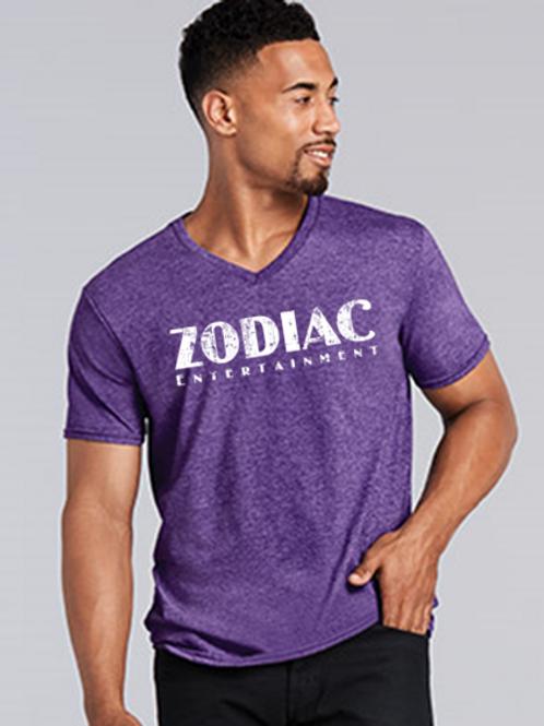 EG206z Mens Softstyle V Neck Tees w/ Wht Zodiac Logo