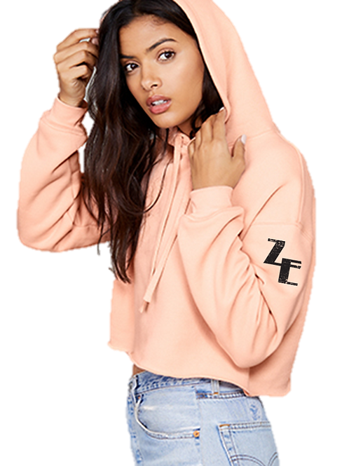 EB7502z Cropped Fleece Hoodie w/ Zodiac Logo