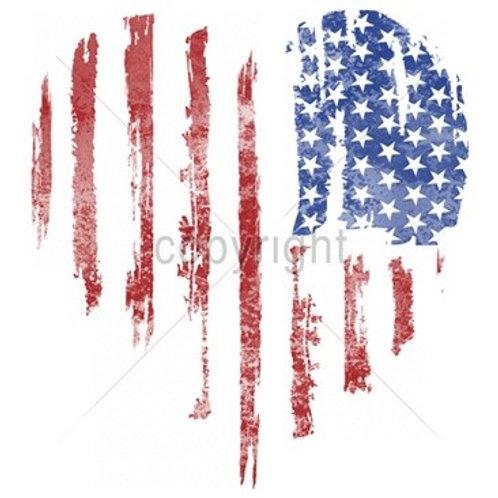 American Flag Heart - SPA10969C