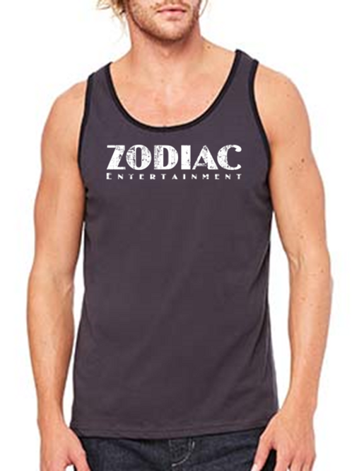 EB250z  Men's Jersey Tank - Dark Grey/Black w/ Zodiac Logo
