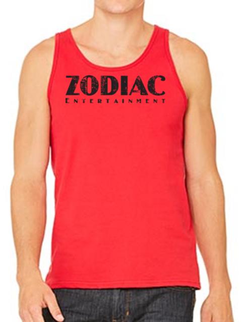 EB250z  Men's Jersey Tank - Red w/ Zodiac Logo