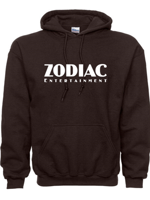 EG342z Hooded Sweatshirt - Dark Chocolate w/ Zodiac Logo