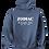 Thumbnail: EG342z Hooded Pullover Sweatshirt -Darks w/ Wht Zodiac Logo