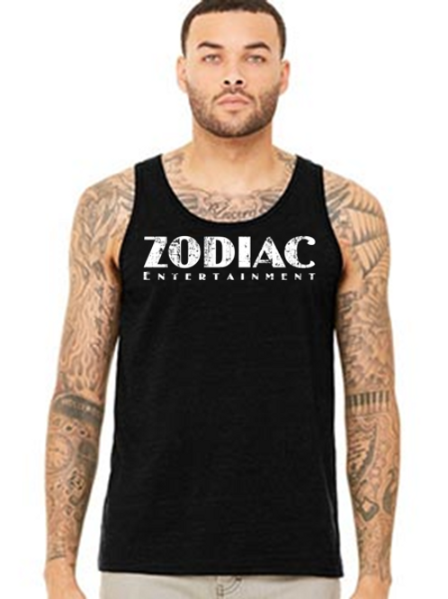 EB250z  Men's Jersey Tank - Black Heather w/ Zodiac Logo