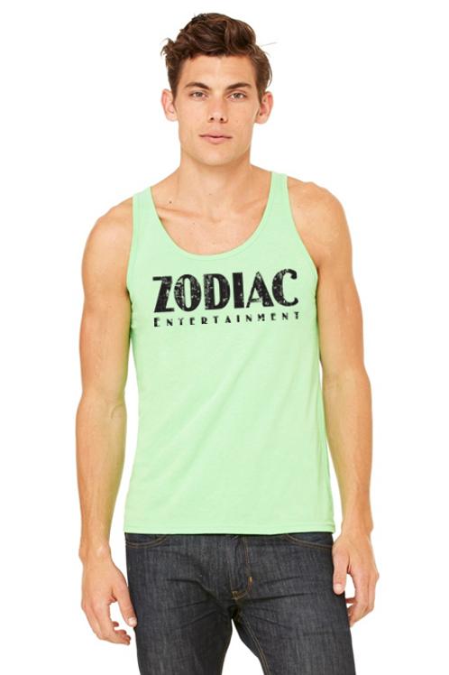 EB3480z Men's Jersey Tank - Neon Green w/ Zodiac Logo