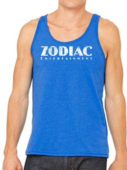 EB250z  Men's Jersey Tank - Royal w/ Zodiac Logo