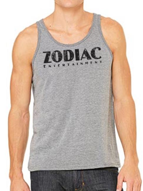 EB250z  Men's Jersey Tank - Deep Heather w/ Zodiac Logo