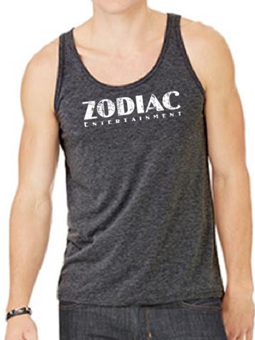 EB250z  Men's Jersey Tank - Dark Grey Heather w/ Zodiac Logo