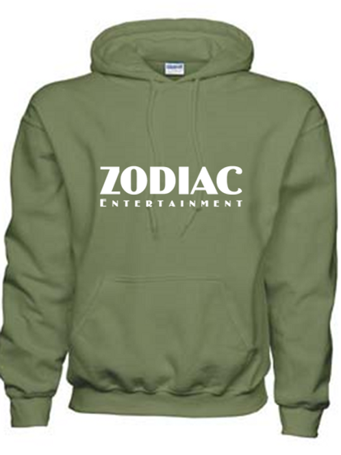EG342z Hooded Sweatshirt - Military Green w/ Zodiac Logo