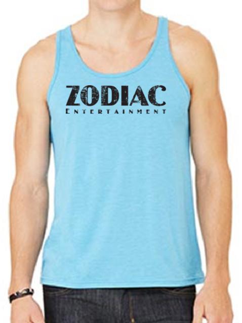 EB250z  Men's Jersey Tank - Aqua Triblend w/ Zodiac Logo