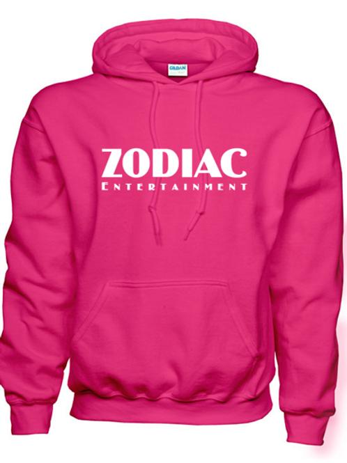 EG342z Hooded Sweatshirt - Heliconia w/ Zodiac Logo