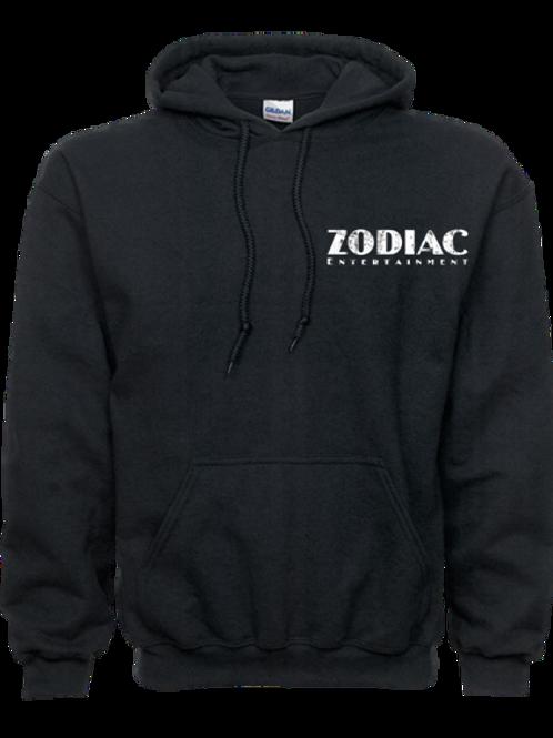 EG342z Hooded Pullover Sweatshirt -Darks w/ Wht Zodiac Logo