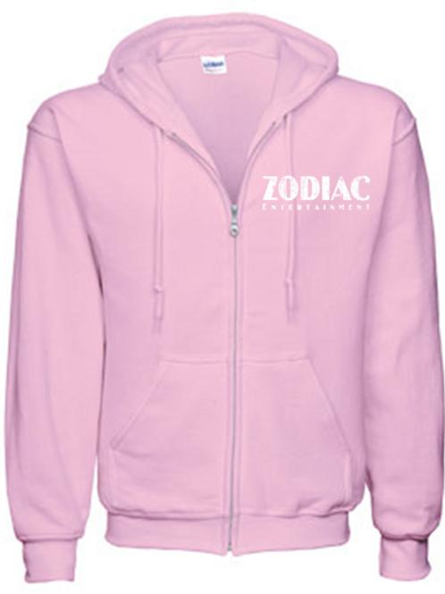 EG343z Men's Full Zip Hooded Sweatshirt-Lt Pink w/ Zodiac Logo