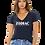 Thumbnail: EB8435z Ladies Deep V-Neck Tees w/ White Zodiac Logo