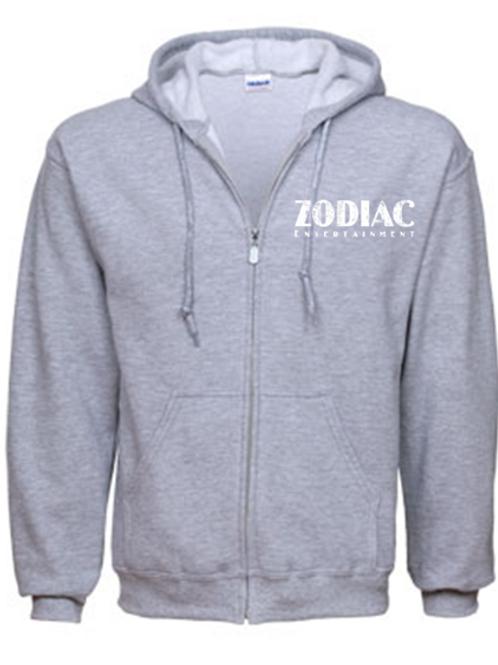 EG343z Men's Full Zip Hoodie-Sport Grey w/ Zodiac Logo