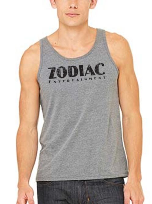 EB250z  Men's Jersey Tank - Grey Triblend w/ Zodiac Logo